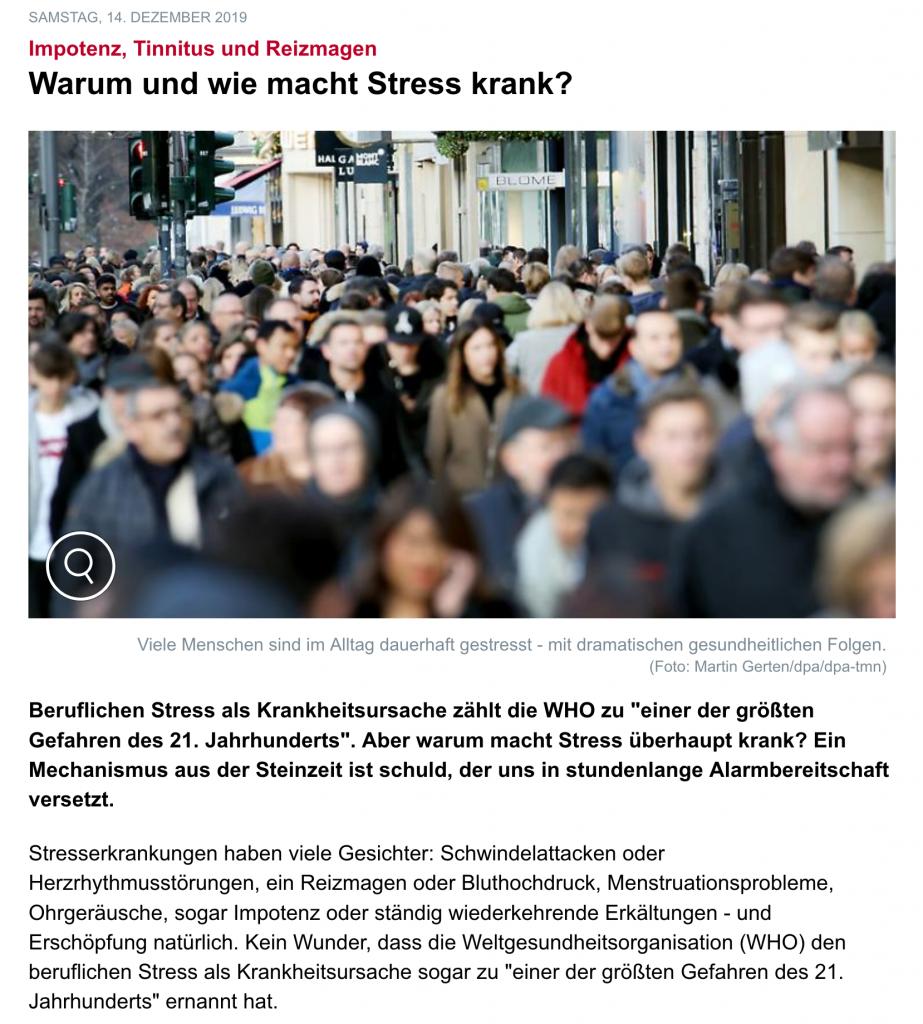 Warum und wie macht Stress krank?